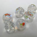 10mm fire polished clear AB. Pack of 10