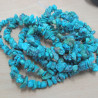 LA002 - Turquoise colour chips. Strand 35 inch.