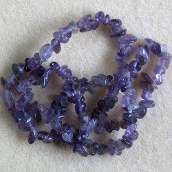 Amethyst chips, approx. 120 chips per strand.