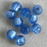 GB2400 - Light Blue, Foiled Glass Beads, 10 per Pack.