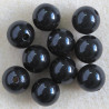 SALE39 - 12mm Black, Plastic Beads, Pack of 10.