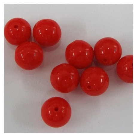 CZ1050 - 5mm red glass beads. Pack of 50