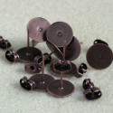 Earing stud with cabochon base, pack of 5 pairs.