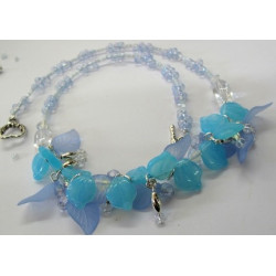 "K119 - ""Blue Horizons"" Necklace and earrings kit"