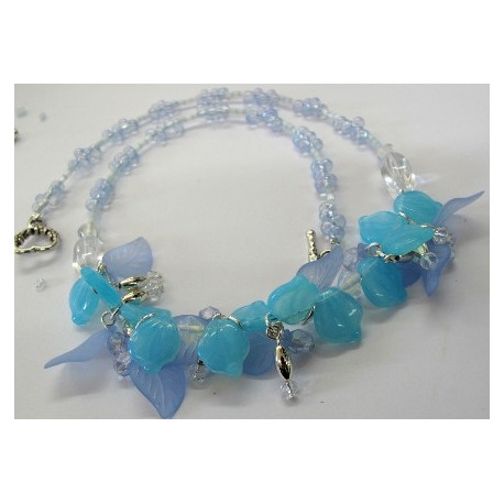 """K119 - """"Blue Horizons"""" Necklace and earrings kit"""