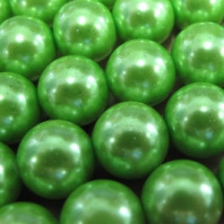 PL1266 - Spring green 12mm glass pearls.