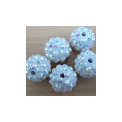 Shamballa style 14mm beads. Clear AB