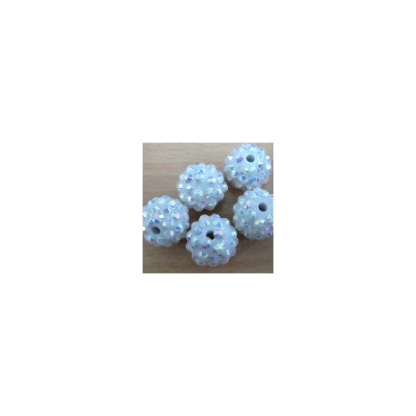 SH001 - Shamballa style 14mm beads. clear AB