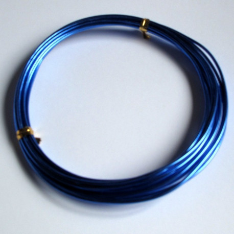 TH1507 - 1.5mm x 3m aluminium wire. Bright Blue