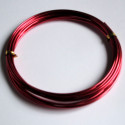1.5mm x 3m aluminium wire. Rose pink