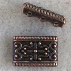 3 hole spacer, antique copper coloured.