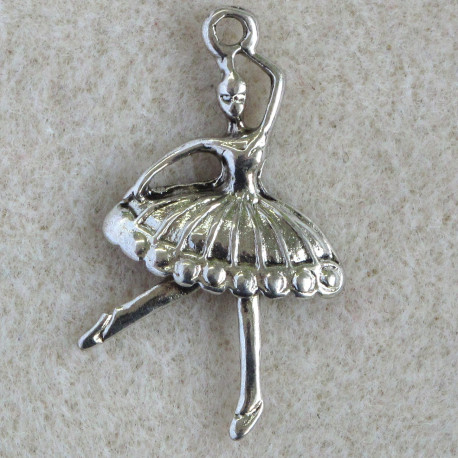 F8527 - Large Dancing Ballerina Charm, Pack of 2.