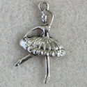 Large dancing ballerina charm, pack of 2.