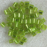 MS030 - Miyuki 4 x 4mm Cube, Silver Lined, Lime Green.
