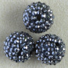 SH010 - Large, Shamballa Style 20mm Beads, Dark Silver.