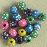 SALE74 - Mixed Coloured, Wooden Beads. 20 per Pack.