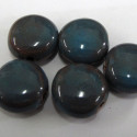 Porcelain coin beads, grey. Pack of 7.