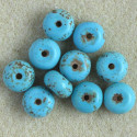 Magnesite rondelles, pack of 10.