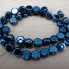 GB1649 - Grey glass coins beads, per strand