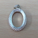Sterling silver 14 x 10mm SETting.