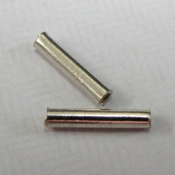 Sterling silver tube beads. Per pair