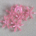 Paddle beads, translucent pink, pack of 10.