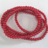 PL0452 - 4mm red glass pearls. Long strand