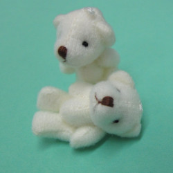 Pair of cute teddy pendants
