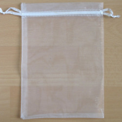 BG1031 - Organza Bag, White, Pack of 5.