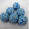 AC4023 - Blue polymer clay beads. Pack of 10