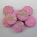 Pink coin bead. Pack of 10