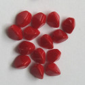 Red 3 sided beads. Pack of 30