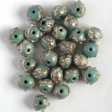 Pale blue wedding cake beads. Per strand