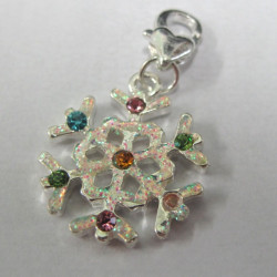 F8305 - Multi colour snowflake charm.