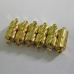Magnetic barrel shape clasp. Pack of 6