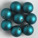 Soft touch acrylic beads, 18mm, teal, pack of 8.