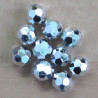 Sale150 - Silvered, Plastic Beads With a Hexagonal Design, Pack of 10.
