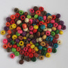 SALE166 - Small Sized Wooden Beads, Mixed Colours.