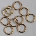 Large gold coloured jump rings. Pack of 10.
