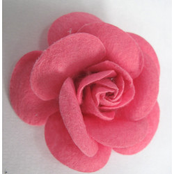 FF150 - Pink felt flower. 55mm