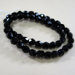 Black 6mm fire polished beads. Pk of 50