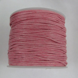 Pink cotton cord 1mm x 1 spool