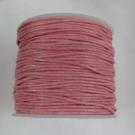 SALE183 - Pink cotton cord 1mm x 1 spool
