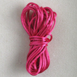 TH8601 - Bright Pink Coloured Rats Tail Thread, 5m.