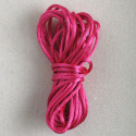 Bright pink coloured rats tail thread, 5m.
