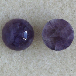 "SALE196 - 10 mm Diameter, ""Real"" Amythyst Cabochon."