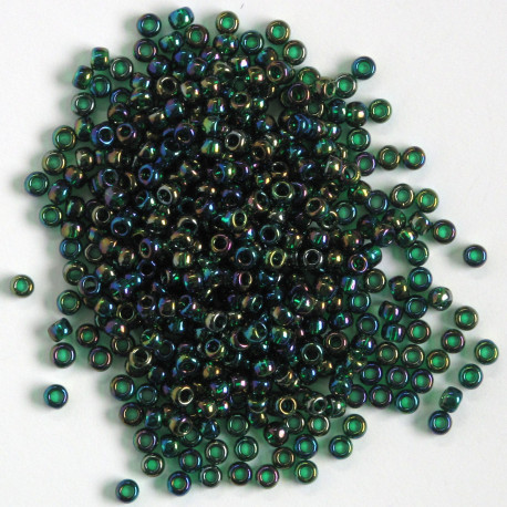 MT831 - Size 8 Toho Seed Beads, Shiny Green Iris