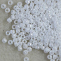 Matsuno pearly white, size 11 seed beads.