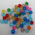 Pack of 10g size 6 mixed glass beads.