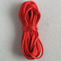 Red coloured rats tail thread, approx. 2mm wide by 5m.